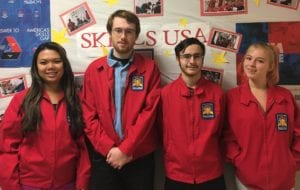 photo of the senior skills USA officers.