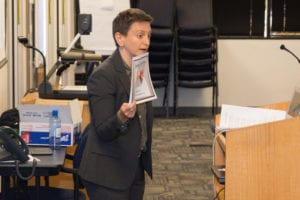 image of Dr. Abby Reisman leading PD at Questar III on October 5.