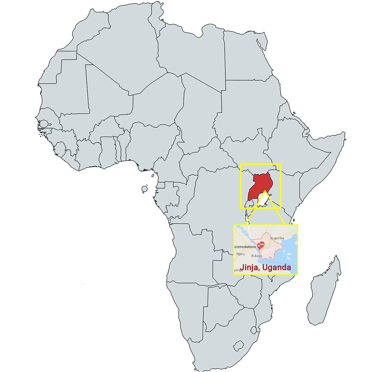 Jinja Uganda Map - Questar III BOCES