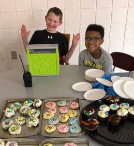 At our March Bake sale, students buy treats with their PBIS points