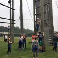 New Visions classes take on the HVCC ropes course