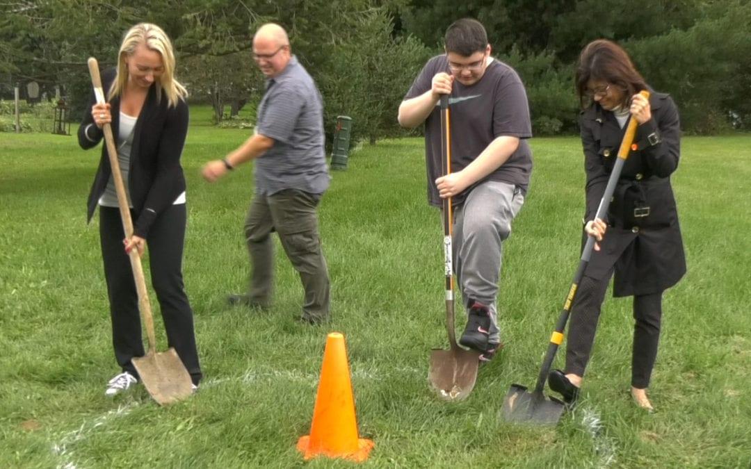 Sackett breaks ground on peace pole & garden