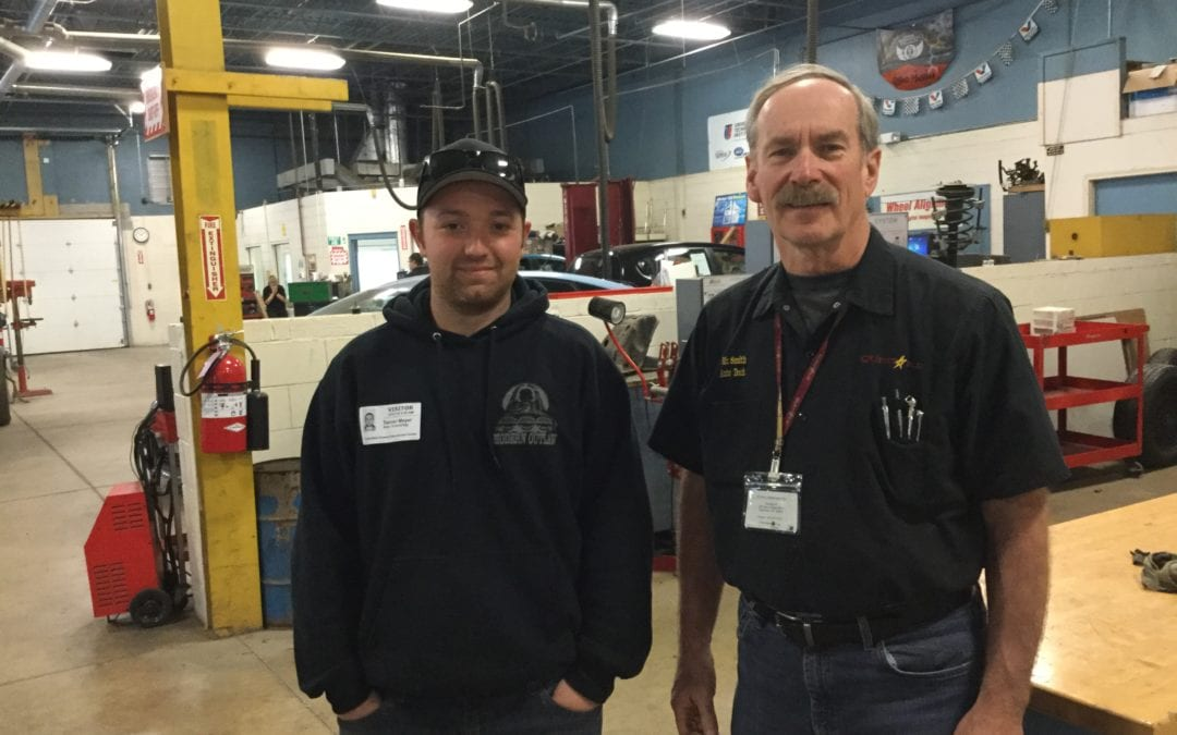 Auto Tech grad returns to share his story