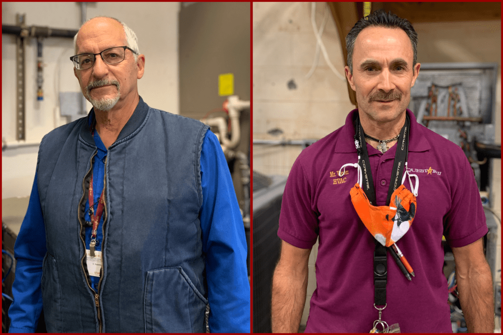 photo of two teachers in HVAC shops